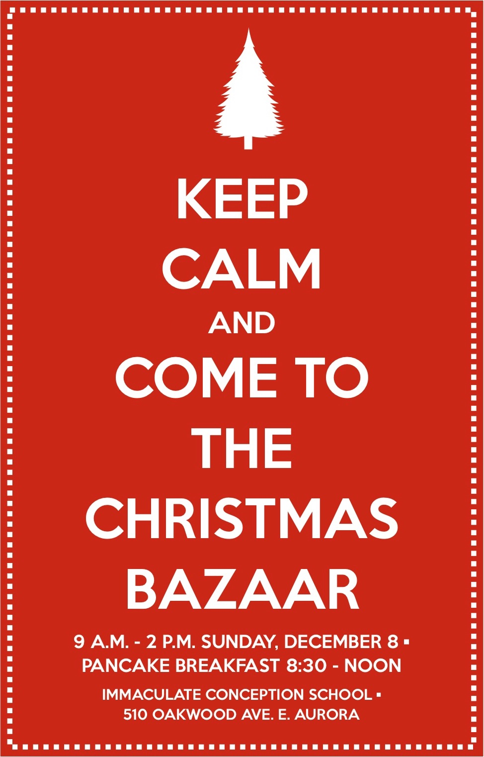 Bazaar Fleyer with info from Event Page